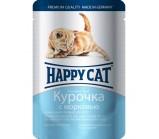 Happy Cat (хеппи Kэт) кусочки в соусе для котят Курочка с морковью [100 гр]  (пауч)