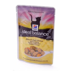 Hill's (ХИЛЛс) Ideal Balance Feline Adult Chicken & Vegetables паучи для кошек с Курицей и овощами 82гр х 12 шт.