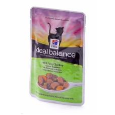 Hill's (ХИЛЛс) Ideal Balance Feline Adult Salmon & Vegetables паучи для кошек с Лососем и овощами 82гр х 12 шт