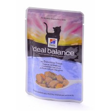 Hill's (ХИЛЛс) Ideal Balance Feline Adult Trout & Vegetables паучи для кошек с Форелью и овощами 82гр х 12 шт.
