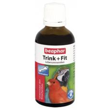 Beaphar Беафар Trink+Fit Витамины для птиц витамин С и кальций для оперения 50 мл (11620)