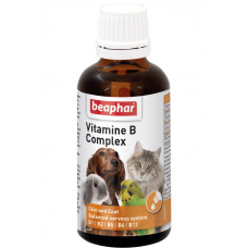 Beaphar Vitamine-B-Komplex Комплекс витаминов гр В д\собак, кошек, грызунов и птиц 50 мл