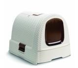 Curver PetLife Туалет-домик для кошек кремово-коричневый, 51x39x40 см
