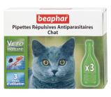 Beaphar Bio Капли био от блох, клещей и комаров для кошек и котят с 3 - х месяцев 3 пипетки