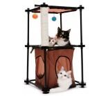 """Kitty City Игровой комплекс с когтеточкой для кошек Биг Бен """"Tower"""" 79*45*45см, сизаль (sp0301)"""