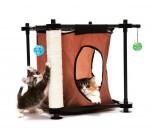 """Kitty City Игровой комплекс с когтеточкой для кошек Тайное укрытие """"Hideaway"""" 44*45*45см, сизаль (pl0303)"""