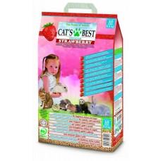Cat's Best Universal (Кетс Бест универсальный) Древесный наполнитель для кошачьего туалета, клеток грызунов и птиц с ароматом КЛУБНИКИ 10 л