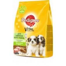 Pedigree (Педигри) Первый прикорм сухой корм для щенков с 3 недель Курица/рис 600 гр
