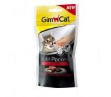 Gimcat NutriPockets Подушечки Нутри Покетс с говядиной и солодом д/кошек 60 г