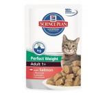 """Hill's (ХИЛЛс) SP Feline Adult Perfect Weight кусочки в соусе для кошек """"Идеальный вес"""" с Лососем 82г х 12 шт"""
