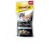 Gimcat NutriPockets  Нутри Покетс Джуниор Микс Подушечки с начинкой для котят с 4 месяцев 60 г (418261)