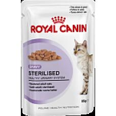 Royal Canin Sterilised Корм для стерилизованных кошек старше 1 года (кусочки в соусе) 85 гр х 12 шт.