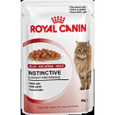 Royal Canin Instinctive Полнорационный влажный корм для кошек старше 1 ((кусочки в желе) года 85 гр х 12 шт.