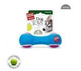 GIGWI игрушка для собак Гантель с пищалкой из теннисного фетра средняя 18 см