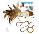 GiGwi 75026 Игрушка для кошек Рыбка-дразнилка на палец с кольцом