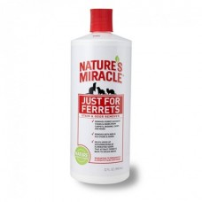 8 IN 1 Nature`s Miracle NM Just for Ferrets Stain Odor Remover Уничтожитель пятен и запахов, оставленных хорьками  945 мл