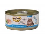 Мнямс консервы для кошек Тунец с креветками в нежном желе 70 г