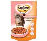 Мнямс паучи для взрослых кошек кожа и шерсть с лососем в соусе 100 гр х 24 шт.