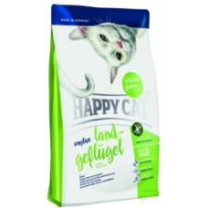 Happy Cat SensitiveGrainfree Land Geflugel Домашняя птица монобелковый беззерновой корм для кошек