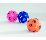 """I.P.T.S. 620144 Игрушка для собак """"Мячик с отпечатками лап и косточек"""", винил 8см"""