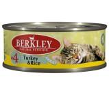 Berkley (Беркли) №4 консервы д/кошек Индейка с рисом 100г х 6 шт