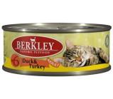 Berkley (Беркли) №6 консервы д/кошек Утка с индейкой 100г х 6 шт