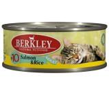 Berkley (Беркли) №10 консервы д/кошек Лосось с рисом 100г х 6 шт