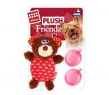 GIGWI PLUSH FRIENDZ Мишка с двумя пищалками (сменные) игрушка для собак 13 см
