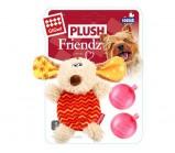 GIGWI PLUSH FRIENDZ Собачка с двумя пищалками (сменные) игрушка для собак 13 см
