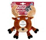 GIGWI PLUSH FRIENDZ Лось с пищалкой игрушка для собак 19 см