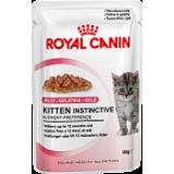 Royal Canin (Роял Канин) Kitten Instinctive кусочки (в желе) для котят  4 до 12 месяцев 85 гр х 12 шт.