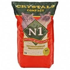 Crystals Compact  (Кристалс) №1 Наполнитель Комкующийся для туалета 5 л (4,2 кг)