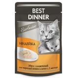 Best Dinner Мусс сливочный «Индейка» для кошек и котят с 1 месяца 85гр