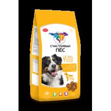 Счастливый пёс для собак крупных пород от 1 года до 7 лет с Курицей [13 кг]