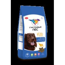 Счастливый пёс для собак средних пород от 1 года до 7 лет Говядина [13 кг]