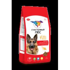Счастливый пёс для активных собак всех пород Энергия с курицей и говядиной  [3 кг]