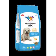 Счастливый пёс Для щенков всех пород с 5 недель с ягненком и рисом  [3 кг]