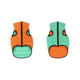 Курточка для собак двухсторонняя светящаяся AiryVest Lumi (оранжево-салатовая) разные размеры