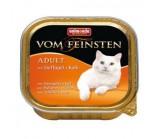 ANIMONDA (Анимонда) VOM FEINSTEN ADULT конс с домашней птицей и телятиной для кошек 100г х 32 шт