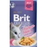 Паучи Brit Premium (Брит) JELLY Chiсken fillets Кусочки из куриного филе в желе 85 г