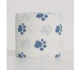 Аndover PetFlex PR бандаж 5 см х 4,5 м голубые лапы на белом