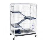 KREDO (D800) Клетка для шиншилл и хорьков 3-х этажная на колесах 64х44х93 см с выдвижным поддоном
