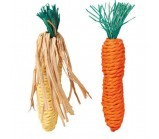 "TRIXIE(6192)Набор игрушек д/грызунов ""Морковь и Кукуруза"", 15 см, сизаль, 2 шт."