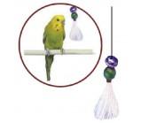 PENN-PLAX ВА523 Игрушка для птиц КИСТОЧКА С БУБЕНЧИКОМ малая 8СМ