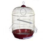 KREDO Клетка для птиц золотая круглая 33х53см(32892)(48724)