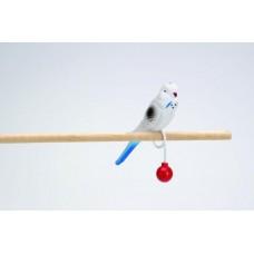 Beeztees 010326 Игрушка Попугай Пластиковый на кольце 15 см/720