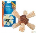 NOBBY(80172) Игрушка для грызунов ШАР С КУКУРУЗОЙ 7см (из дерева и листьев кукурузы) (30055)
