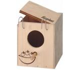 Ferplast NIDO MINI Домик-гнездо для птиц деревянный 11,5 x 12,5 x h 12 cm