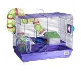 KREDO Клетка для грызунов 2-х этажная, комплект 47х30х37см подарочная упаковка (513В)