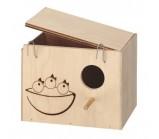 Ferplast NIDO LARGE Домик-гнездо для птиц деревянный 25 x 17 x h 17 cm